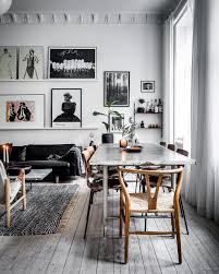 beautiful gray tones in a danish home wall filing and