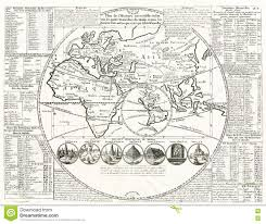 Ancient World Map by World Map Seven Wonders Of The Ancient World 1707 Stock Photo