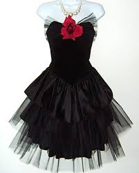 Eighties Prom Dresses 80s Prom Dress Velvet Top Layered Net Bottom Party Things