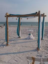 Wedding Arches Beach Wedding Arch Wedding Chuppah With 4 Drapes Of Fabric Bamboo