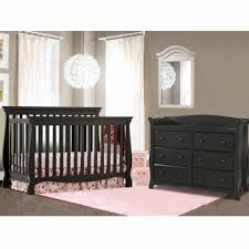 Black Convertible Crib Storkcraft 2 Nursery Set Venetian Convertible Crib And