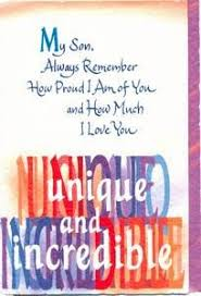 son birthday greeting card my son always remember by blue
