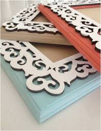 wooden scroll wall frames 5x7 by rachelraedesigns on etsy 16 00