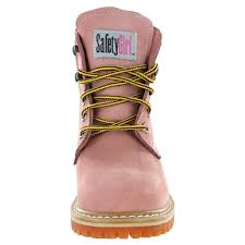 womens boots work safety ii toe s work boots light pink 5m