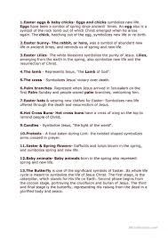 easter symbols worksheet free esl printable worksheets made by