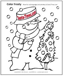 color frosty snowman