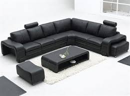 Sectional Sofa Sets Leather Sectional Sofa Set Table Tos Lf 3330 Black