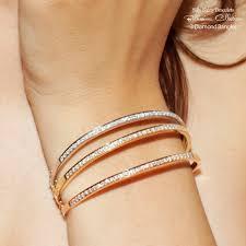 rose gold white gold bracelet images 3 diamond bangles sale jpg