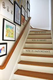 Stairs Quotes by Hanging Art In Our Stairwell Emily A Clark