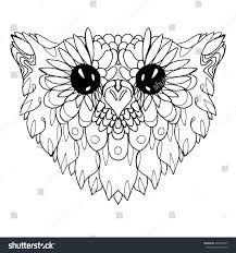 Portrait Owl Owls Head Abstract Bird Stock Vector 402399817
