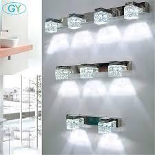 vanity wall sconce lighting modern led crystal bathroom mirror lighting led wall sconce ls in