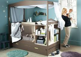 attractive baby nursery room with blue wall decoration dweef com
