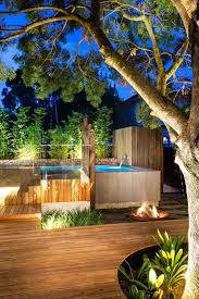 modern backyard ideas christmas lights decoration