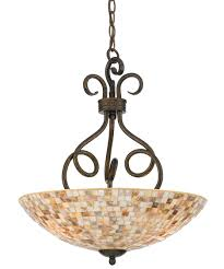 Large Pendant Lighting by Quoizel My2816 Monterey Mosaic 18 Inch Wide 3 Light Large Pendant