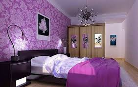 pastel purple wall paint tailored bed skirt style patterned bed