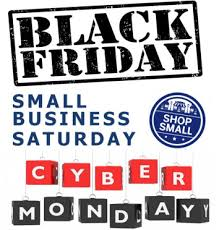 black friday small business saturday cyber monday black friday sales