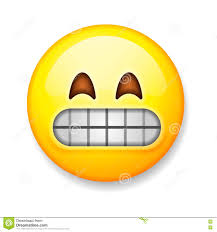 nervous smile emoji emoticon stock vector image 63912749
