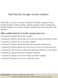 example of technical writing paper top8facilitymanagerresumesamples 150425020633 conversion gate01 thumbnail 4 jpg cb 1429945653