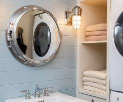 Nautical Bathroom Mirrors Boston Kids Bathroom Mirror Beach Style With Laundry Combo