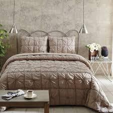 camille taupe king quilt set teton timberline trading