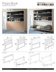 Murphy Bed Mechanism For Sale Poppi Book Resource Furniture Wall Beds U0026 Murphy Beds
