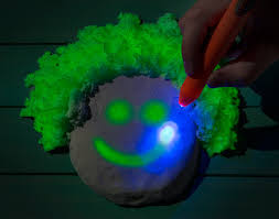 glow in the glowing kinetic sand glow in the moldable sand