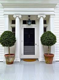 front porch trees home design