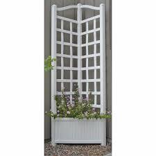 6 5 foot outdoor rectangle vinyl sunburst lattice planter with