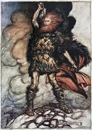 thor son of odin by arthur rackham jól jul yule pinterest