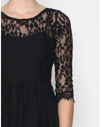 free people floral mesh lace dress in black lyst