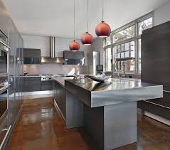 alluring stylish kitchen with contempoorary lighting idea and