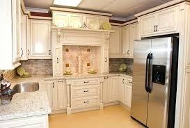 White Kitchen Cabinets White Appliances Cream Kitchen Cabinets With White Appliances Black Green Walls