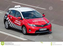 toyota stock symbol toyota auris driving car editorial stock photo image