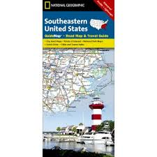 road map of southeast us southeastern usa guide map national geographic store