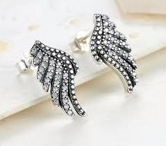 feather stud earrings sterling silver majestic feathers stud earrings