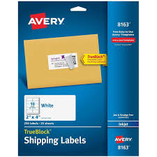 Fedex Label Template Word Shipping Labels With Trueblock Technology Walmart Com