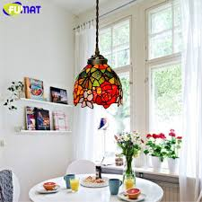 stained glass dining room light fumat stained glass pendant lights garden rose glass art l living