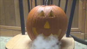 fog machine jack o lantern cool halloween idea smoking pumpkin