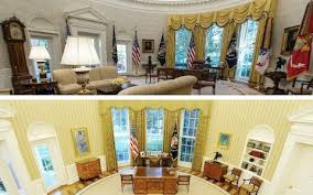 trump oval office redecoration donald trump s oval office renovation leads washington on a game of