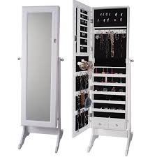 Free Standing Full Length Mirror Jewelry Armoire White Jewelry Cabinet With Mirror Jewelry Cabinet That