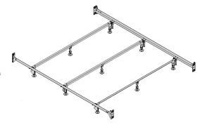 deluxe hospitality bed bolt on bedframe to attach headboard and