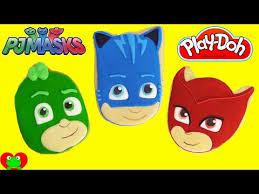 pj masks unmasked connor amaya greg play doh surprise eggs
