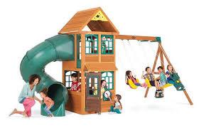 swing set for babies big backyard premium collection cloverdale wood swing set toys r us