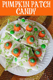 Halloween Party Appetizers Pumpkin Patch Candy Bark Recipe Oh My Creative