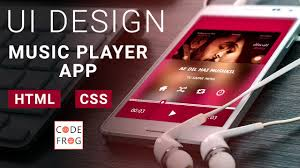 tutorial css design ui design tutorial music player html css speed coding youtube