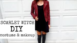 scarlet witch original costume diy scarlet witch costume makeup youtube