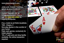 play live poker game in delhi august 2016