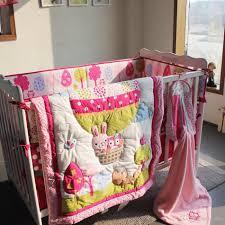 Cot Bumper Sets Baby Bedding Set Embroidery 3d Air Balloon Rabbit Fox Owl Baby