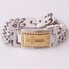 men bracelet design images Cross design silver men bracelet pluto99 png