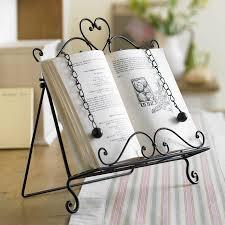 ravishing cast iron cookbook stand heavy steel page retainers matt
